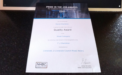 NHBC Quality Award for the Lisnavale Development